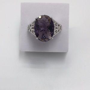 Handmade Jewelry - 5 CARAT PURPLE AMETHYST 925(sterling silverSize 10